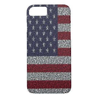American Flag Pebble Garden Iphone Case