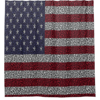 American Flag Pebble Garden Shower Garden