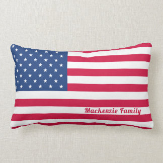 American Flag | Personalized Family Lumbar Pillow