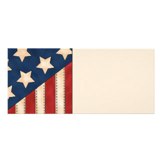 American Flag Personalized Rack Card