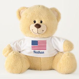 American Flag | Personalized Teddy Bear
