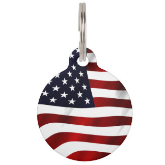 American Flag Pet Tag