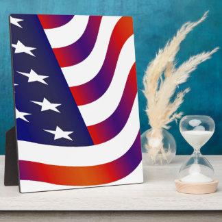American Flag Plaque
