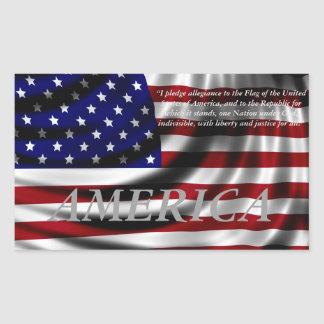 American Flag Pledge of Allegience Sticker