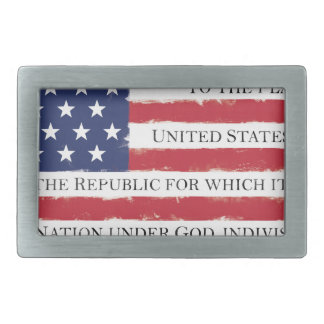 American flag Pledge Vintage Belt Buckles