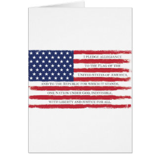 American flag Pledge Vintage Card