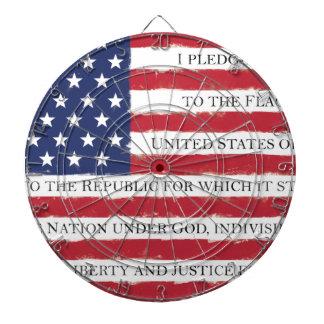 American flag Pledge Vintage Dartboard