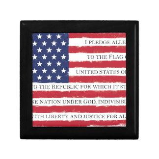 American flag Pledge Vintage Gift Box
