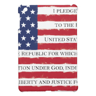 American flag Pledge Vintage iPad Mini Cover