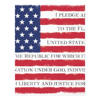 American flag Pledge Vintage Letterhead