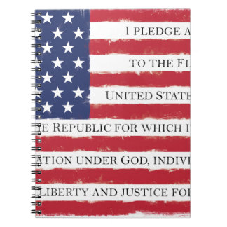 American flag Pledge Vintage Notebook