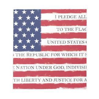 American flag Pledge Vintage Notepads