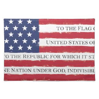 American flag Pledge Vintage Placemat