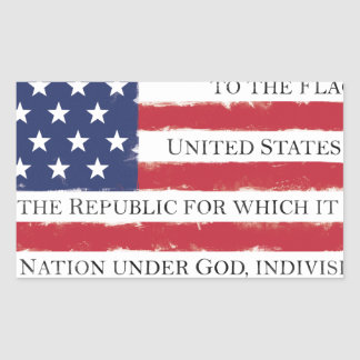 American flag Pledge Vintage Sticker