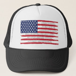 American flag Pledge Vintage Trucker Hat