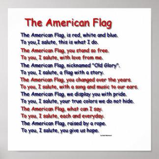 American Flag Poem Poster