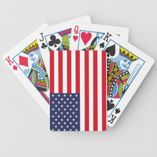 American flag poker deck