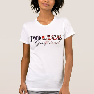 American Flag Police Girlfriend T-Shirt
