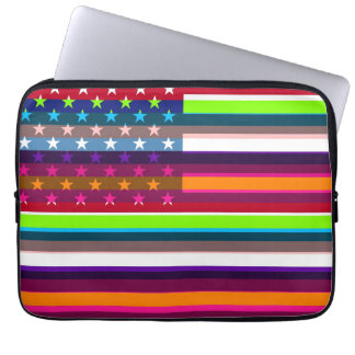 American Flag Pop Art 4 Laptop Sleeve