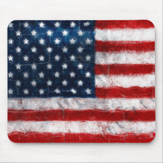 American Flag Portrait Mousepad