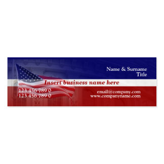 American flag professional red white blue business card template