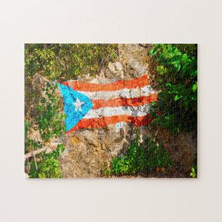 American Flag  Puerto Rico. Jigsaw Puzzle