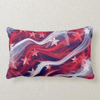 American flag rectangle Throw Pillow