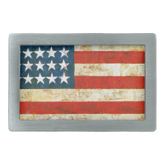 American Flag Rectangular Belt Buckle