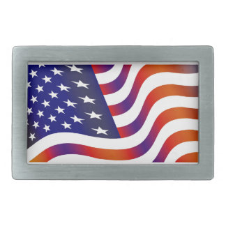 American Flag Rectangular Belt Buckles
