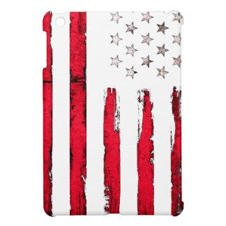 American flag Red Grunge iPad Mini Cover