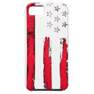 American flag Red Grunge iPhone 5 Cases