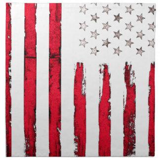 American flag Red Grunge Napkin