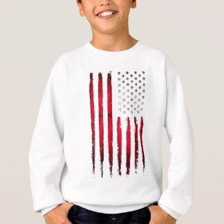 American flag Red Grunge Sweatshirt