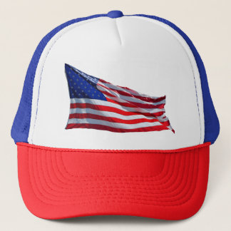 American Flag Red White and Blue Baseball Cap