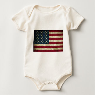 American Flag Red White And Blue Flag Baby Bodysuit