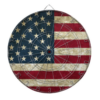 American Flag Red White And Blue Flag Dartboard