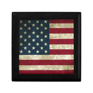 American Flag Red White And Blue Flag Gift Box