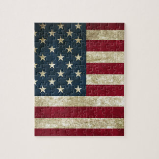 American Flag Red White And Blue Flag Jigsaw Puzzle