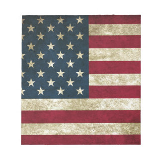 American Flag Red White And Blue Flag Notepad