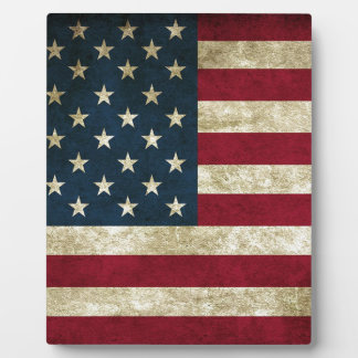 American Flag Red White And Blue Flag Plaque