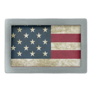 American Flag Red White And Blue Flag Rectangular Belt Buckle