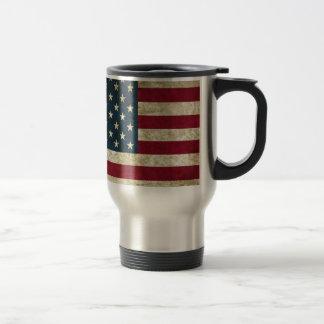 American Flag Red White And Blue Flag Travel Mug