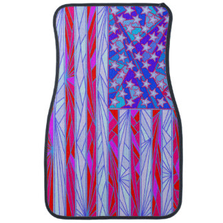 American Flag Red White And Blue Patriotic Front Car Mat