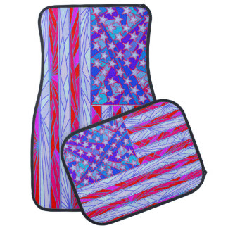 American Flag Red White And Blue Patriotic Full Car Mat