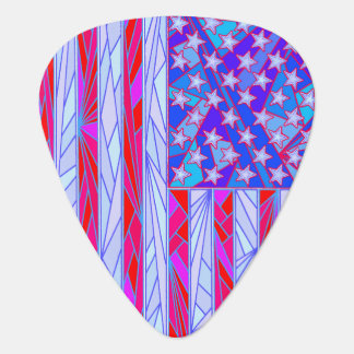 American Flag Red White And Blue Patriotic Fun Guitar Pick