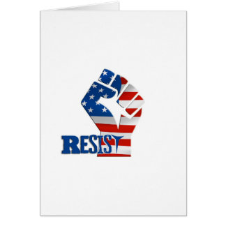 American Flag Resist Raised Fist Card