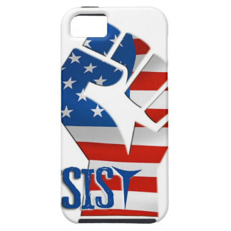 American Flag Resist Raised Fist Case For The iPhone 5