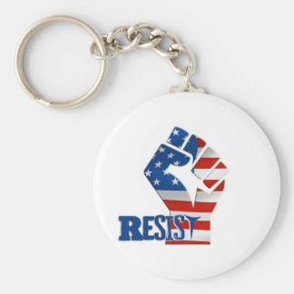 American Flag Resist Raised Fist Keychain