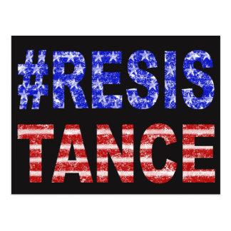 American Flag Resistance Postcard