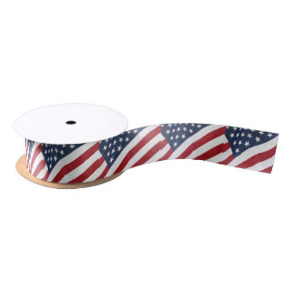 American Flag Ribbon Satin Ribbon